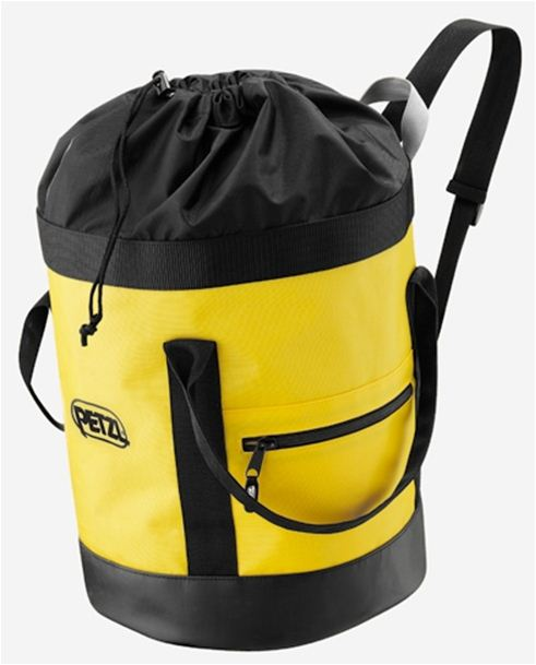 PETZL BUCKET FABRIC PACK REMAINS UPRIGHT 25L.