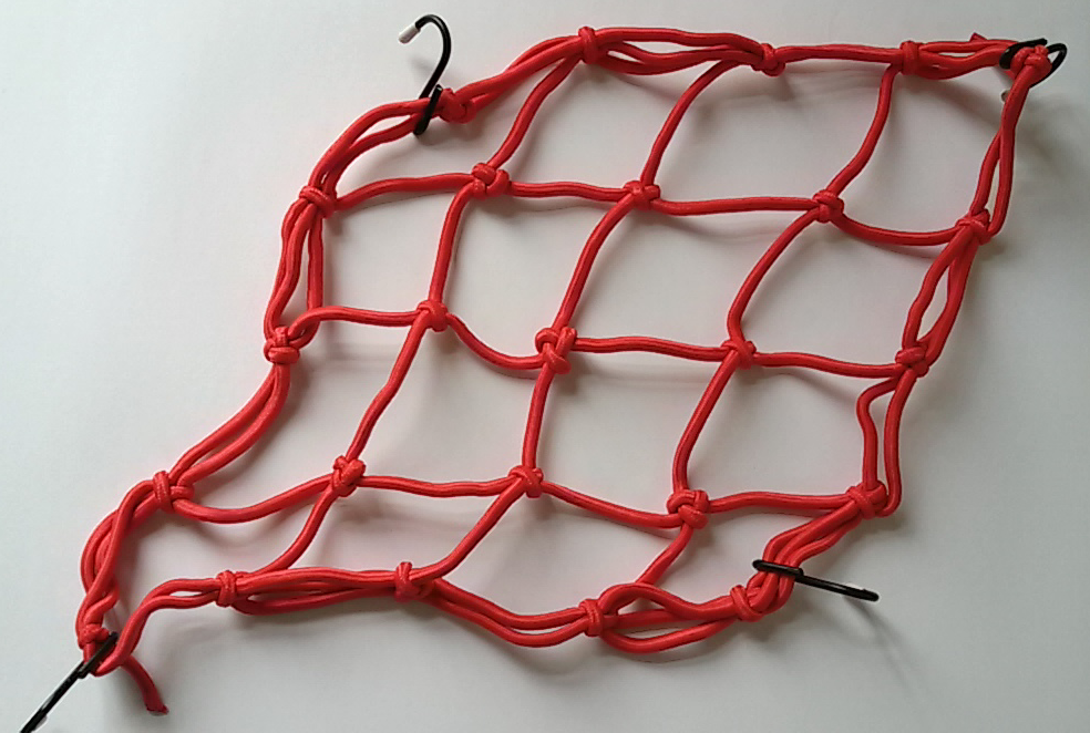 AQ TREE SPIDER ELASTIC OBJECT NET - Red